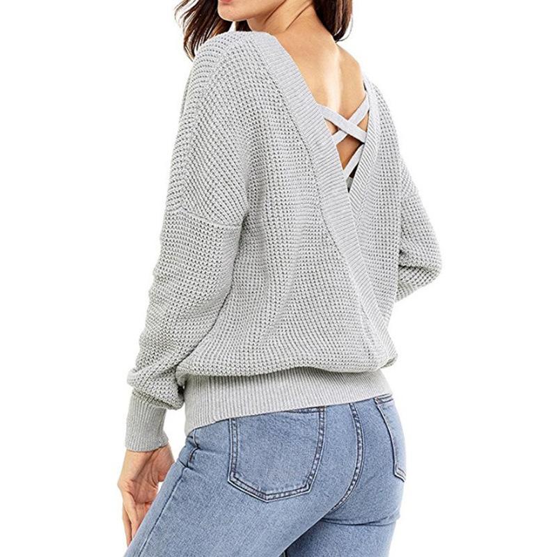 Dámský pletený svetr s rukávy - 4 barevná provedení Barva 1 Velikost ... 7a40a5f007
