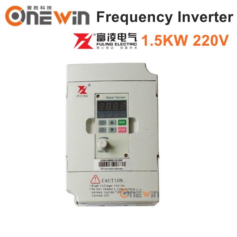 Fuling 1.5KW convertitore di frequenza 220 v VFD frequenza Variabile driver per il motore mandrino cnc