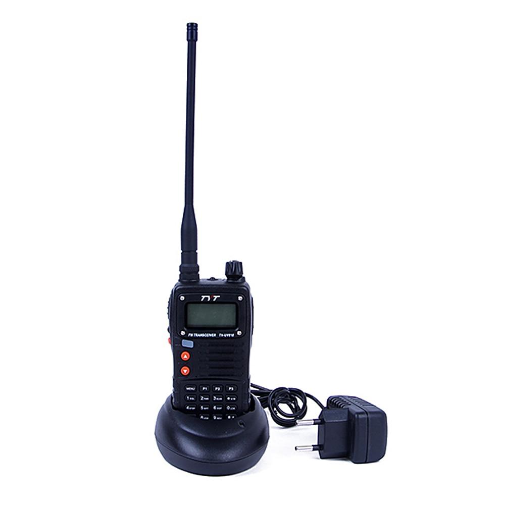 bilder für Tragbare radio telefon tyt th-uv818 walkie talkie 5 watt vhf + uhf 128 speicher ch fm radio dual band display tragbares radio interphone