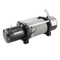12 В в электрическая лебедка нагрузка 13000lb/12000lb пульт дистанционного управления моторная лебедка мощные аксессуары EU штекер подъемный инстр