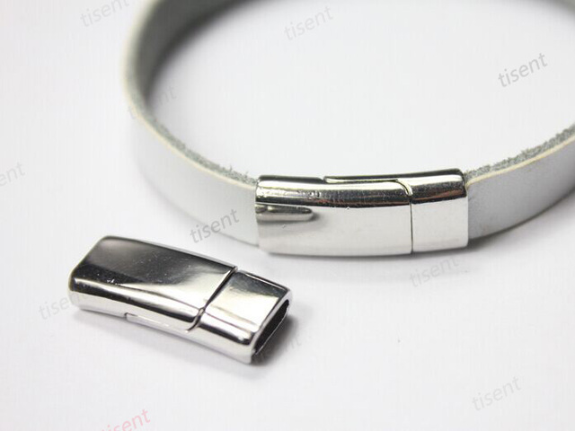 3 Sets 7 5x3mm Hole Silver Magnetic Clasp Curved Bracelet Closures