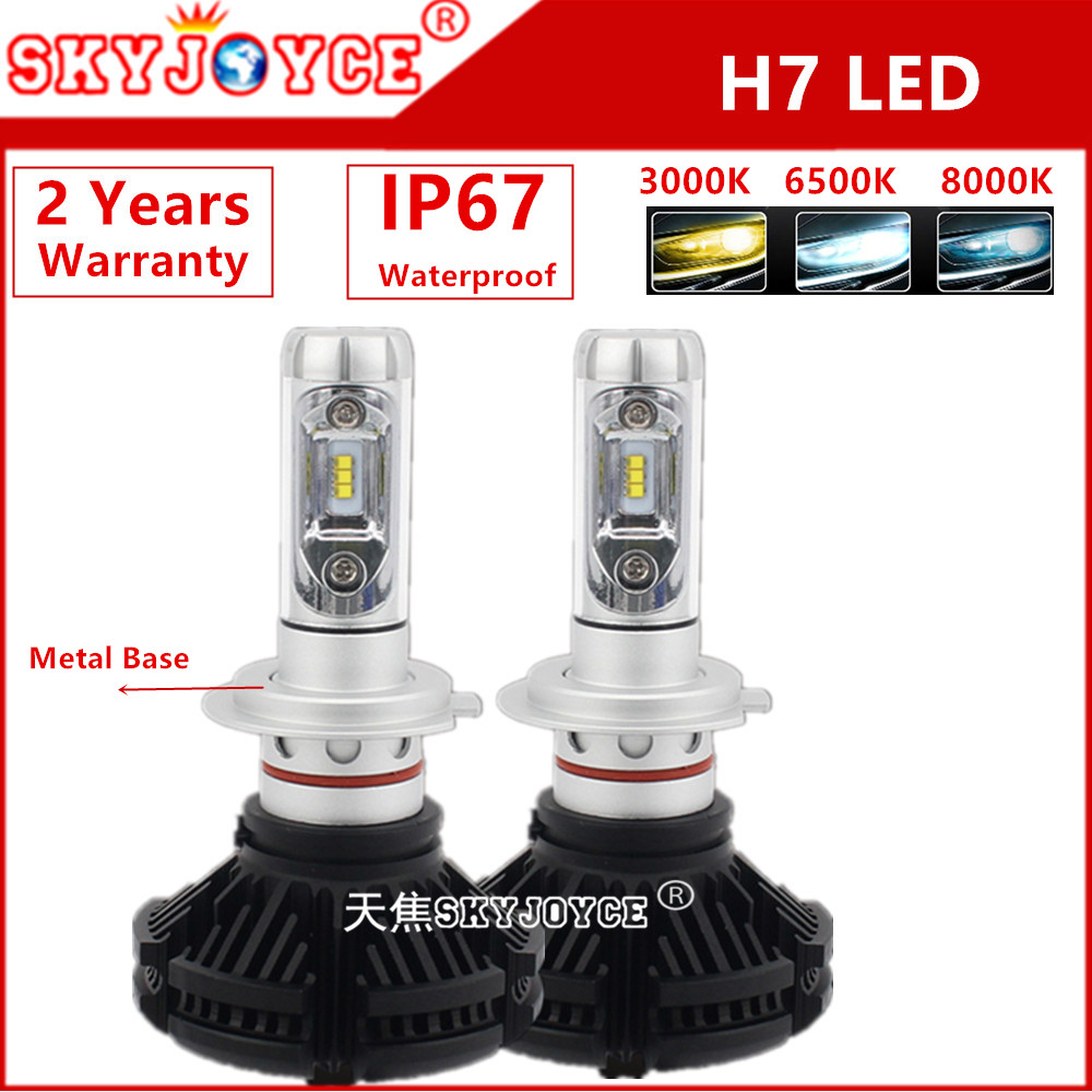 2X auto led headlight H4 3000K 6500K 8000K All in one led X3 Car LED Headlight