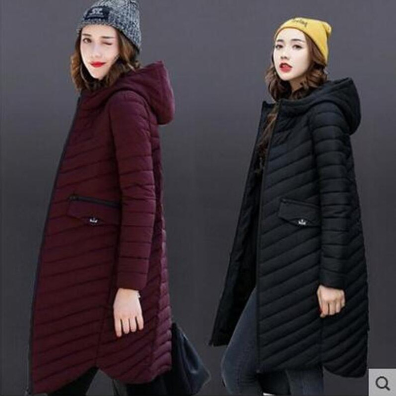 2018 Winter women Plus Size Womens   Parkas   Thicken Outerwear solid hooded Coats Short Female Slim Cotton padded basic tops