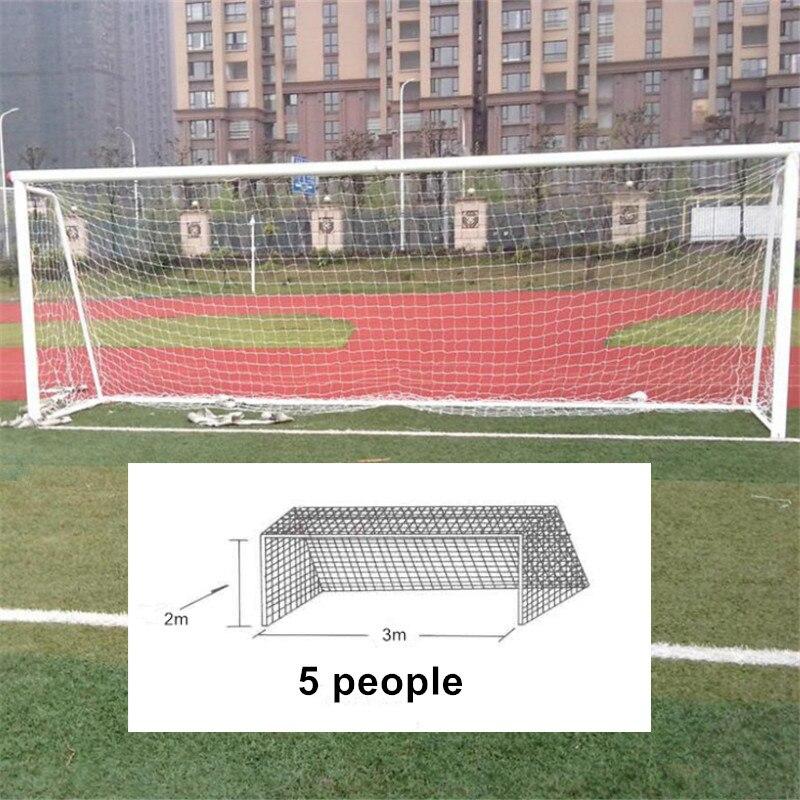 24x8ft Football Full Size Soccer Goal Post Net Straight Flat Sport 7.3x2.4m  F1