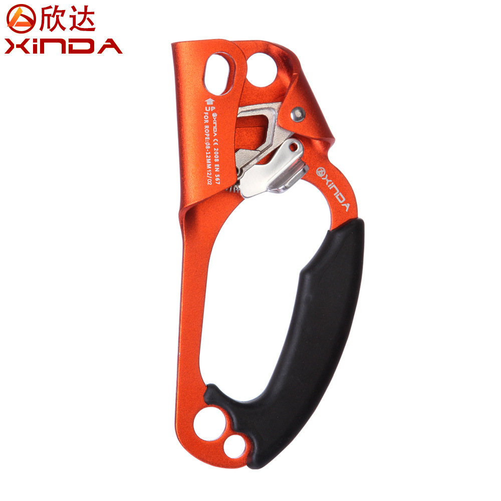 XINDA Professional Arborist Rock Climbing Mountaineer Right Hand Grasp Ascender Device Riser For 8 12mm Rope
