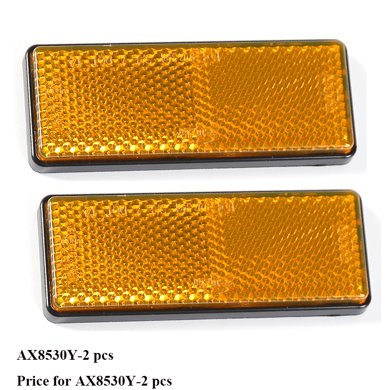 2 PCS amber reflector  self adhesive ECE Approval rectangular reflect strip for trailer truck lorry bus RV caravan camp bike-in Reflective Strips from Automobiles & Motorcycles
