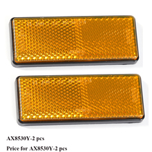 2 PCS amber reflector  self adhesive ECE Approval rectangular reflect strip for trailer truck lorry bus RV caravan camp bike