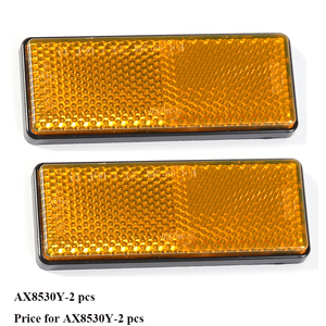 Image 1 - 2 PCS amber reflector  self adhesive ECE Approval rectangular reflect strip for trailer truck lorry bus RV caravan camp bike