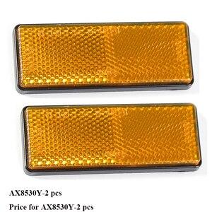Image 1 - 2 STUKS amber reflector zelfklevende ECE Goedkeuring rechthoekige weerspiegelen strip voor vrachtwagen vrachtwagen bus RV caravan kamp fiets