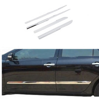 Chrome Body Side Molding Cover Trim Kit For Toyota Corolla 2011 2012 2013