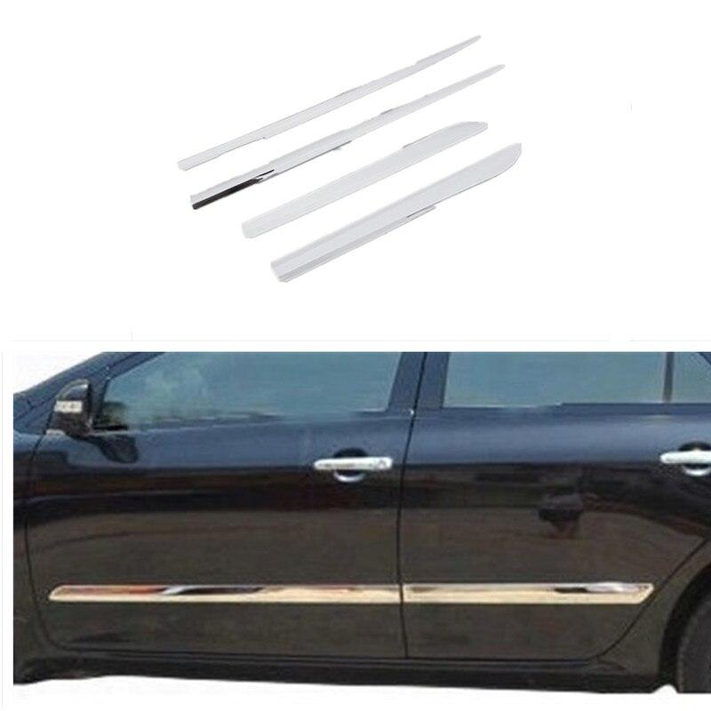 Garniture de carrosserie latérale pour Toyota Corolla 2011 2012 2013 acier inoxydable 4 pièces par animal