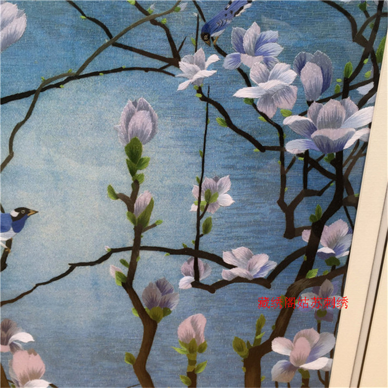 Suzhou embroidery finished product painting handmade embroidery decoration paintings quality embroidery gift in Painting Calligraphy from Home Garden