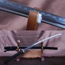 Japanese Samurai Sword Full Tang Clay Tempered Folded Steel Blade Katana Handmade Sharp Knife Vintage Home Metal Decoration