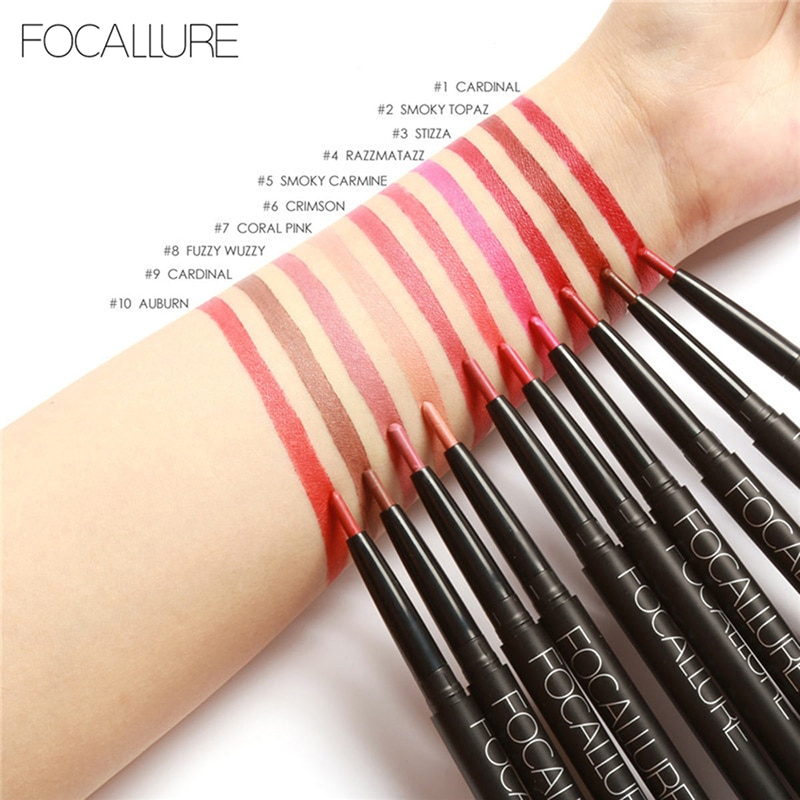 Lip Liner Lips Contemplative Focallure Hottest Easy Wear Long Lasting Lip Tint Lipstick Matte Batom Waterproof Lip Liner Pen Lipliner Pencil Women Cosmetics Shrink-Proof