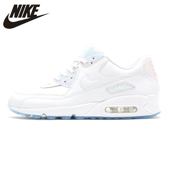 online store 9b8d7 42a04 Nike Air Max 90 Premium Womens Running Shoes, White, Abrasion Resistant  Non-slip