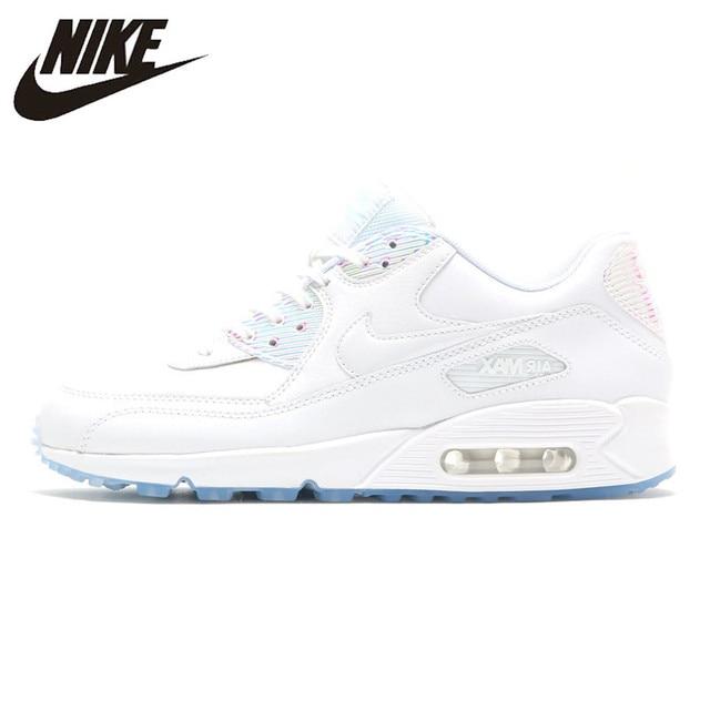 Nike Air Max 90 Premium de las mujeres Zapatos blanco resistente a la abrasión antideslizante impermeable y transpirable de 443817 a 104