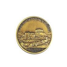 Custom Antique 3D Gold Coin Premium Stamping Plating Aluminum