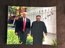 Подписанный Дональд Трамп автограф оригинальные фото автографы 8*10 Бесплатная доставка 062019