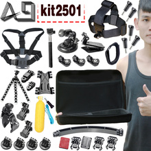 A9 For GoPro accessories Set Family Kit Go Pro SJ4000 SJ5000 SJ6000 accessories package for GoPro HD Hero 1 2 3 3+ 4 xiaomi yi