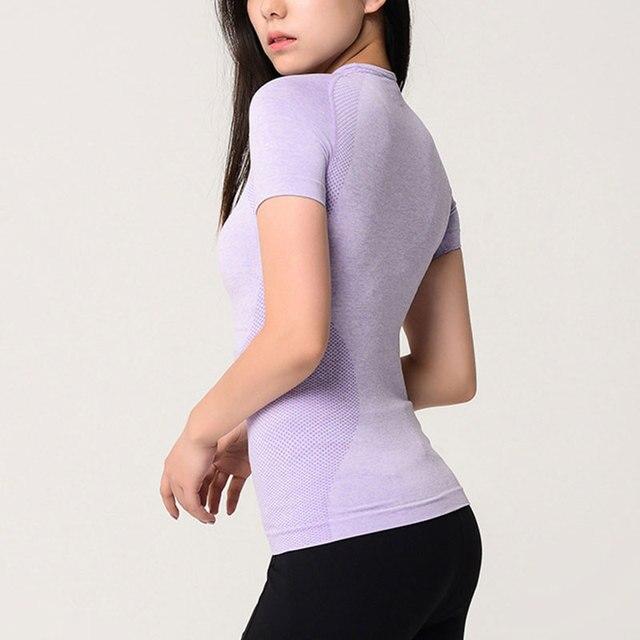 Women's Sports Wear For Women Gym Yoga Top T-shirt Female Workout Tops Sport Shirt Fitness Seamless Jersey Woman Workout Tops 2