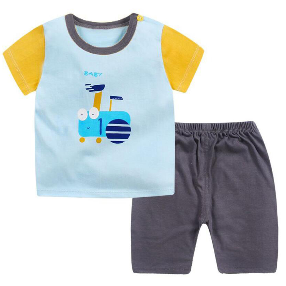 Children's Shorts Sets Sports Summer Suits Clothing Sets Shirt Sleepwear For Kids Toddler Baby Boys Shorts T-Shirt Set 2 3 Year sun moon kids boys t shirt summer