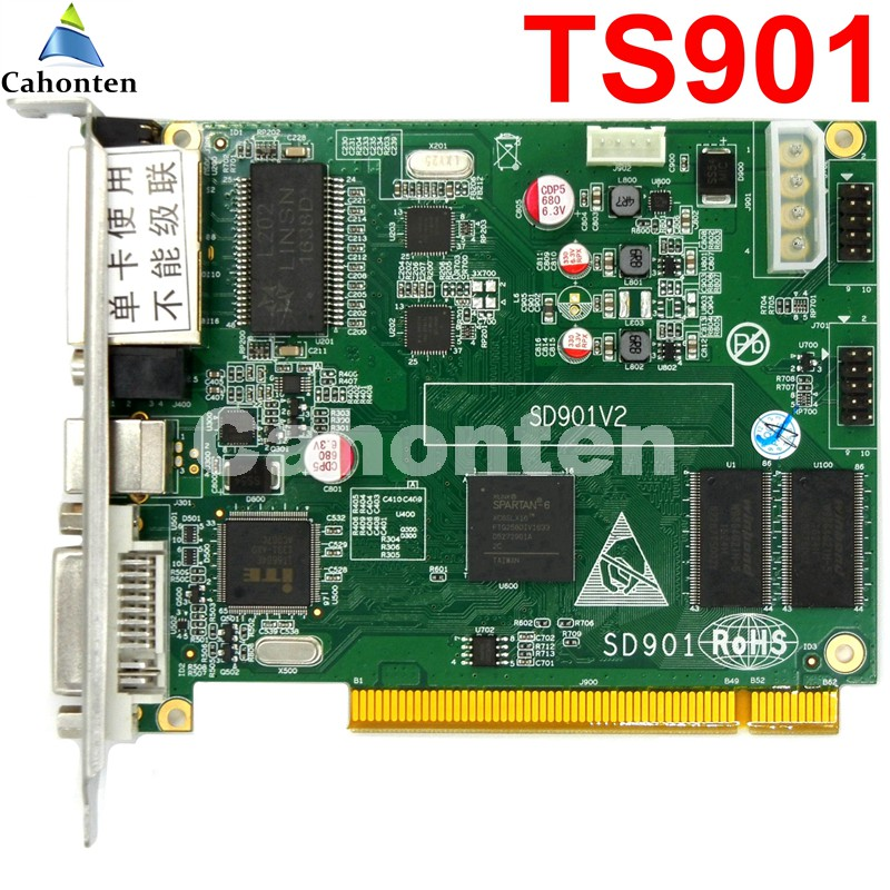 все цены на Linsn TS901 sending card full color Syncronous control card rgb 1280*1024  / 2048*640 pixels video led sender drive board онлайн