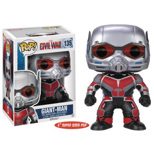 Exclusive 6'' Funko pop Official Captain America 3: Civil War - 6 Giant Man Vinyl Action Figure Collectible Model Toy chanycore funko pop avengers marvel captain america civil war black widow panther winter soldier vinyl pvc action figure toy