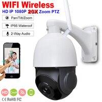 1080 P Беспроводная PTZ скорость купольная ip камера wifi 1080 P ip камера wifi Открытый 5x 20x Zoom CCTV Безопасность Видео Камера видеонаблюдения