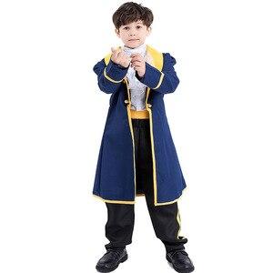 Image 5 - Детский костюм принцессы для мальчиков, детское платье принцессы Белль для косплея, рождественские платья