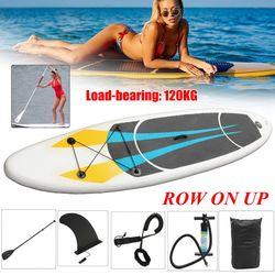 SGODDE Aufblasbare Stand Up Surfbrett Surfen Bord Wasser Sport Sup Board mit Leine Paddel Pumpe Fuß Sicherheit Seil Tool Kit