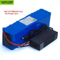 48 V to 7.8ah 13s3p High power 18650 mAh 7800 battery Electric car Electric motorcycle DIY battery BMS protection + 2A charger