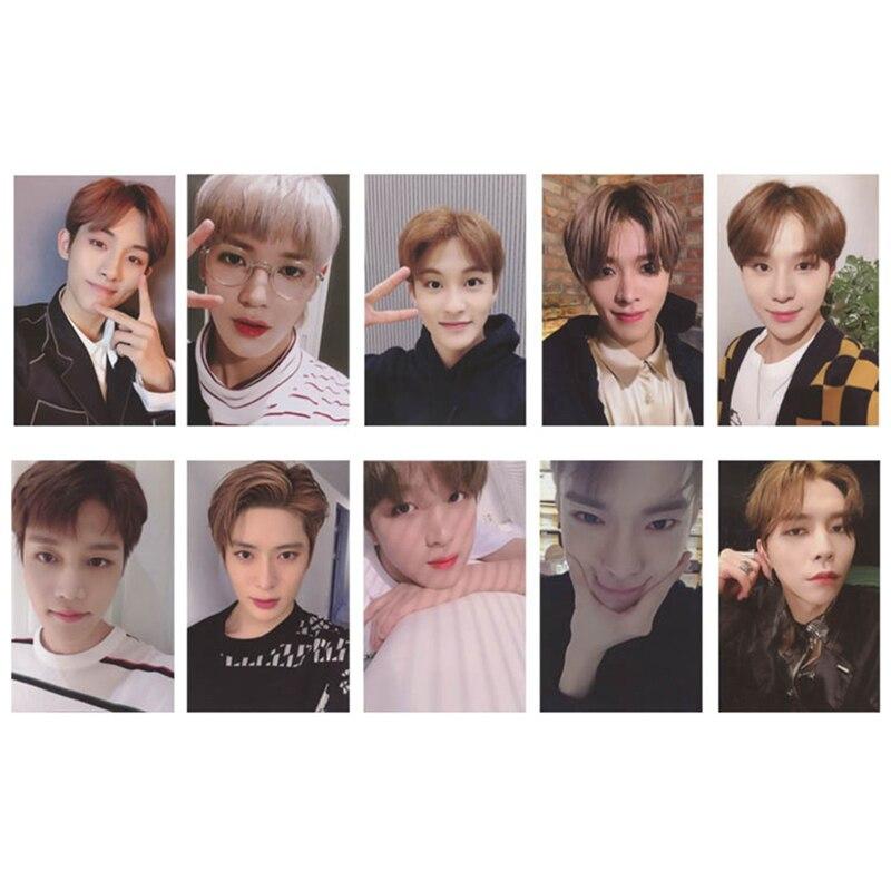 10Pcs Set font b KPOP b font NCT U 127 2019 Empathy Album Taeyong Mark Self