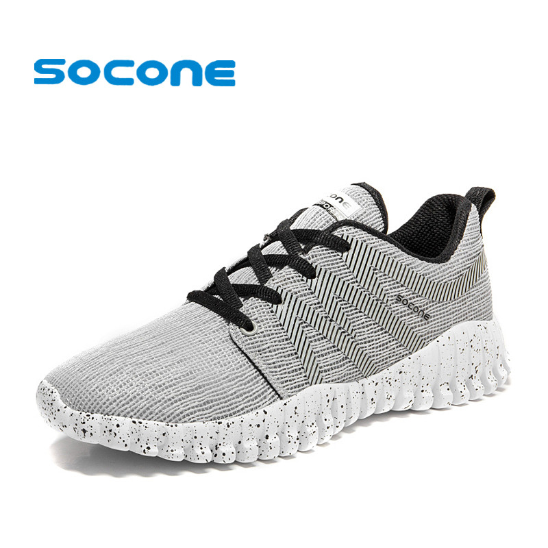 Socone 2017 Light Running Shoes for Men Breathable Athletic Sneakers Men Outdoor Textile Sneakers Comfort Sports Shoes 2017brand sport mesh men running shoes athletic sneakers air breath increased within zapatillas deportivas trainers couple shoes