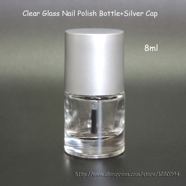 7 8ML Nail Enamel Polish Bottles, clear glass nail polish bottle in ...