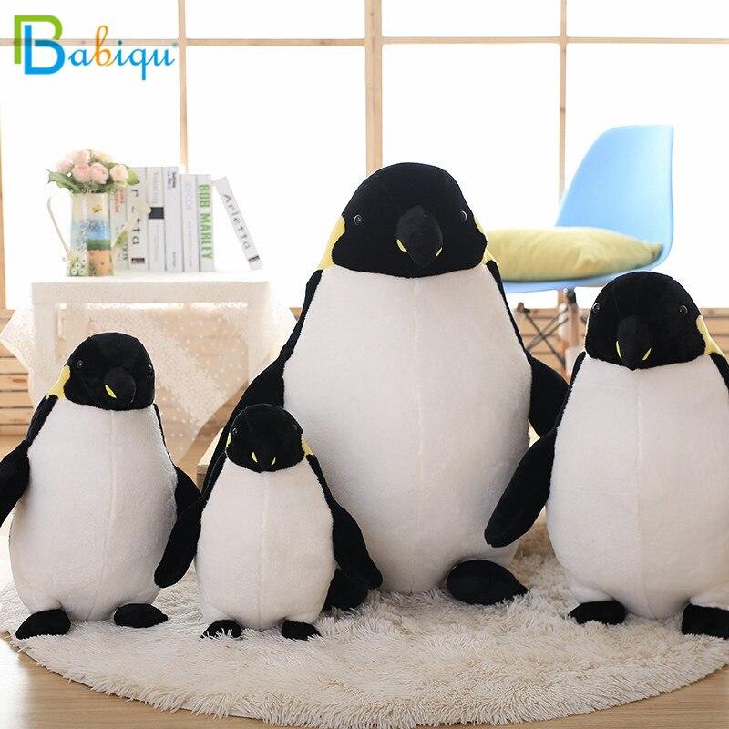 Babiqu 1 pc Bonito Encantador Animal do Pinguim Do Bebê Alta Qualidade Algodão PP Super Macio Pinguins De Pelúcia Bonecos de Pelúcia Brinquedos Dos Miúdos apresenta