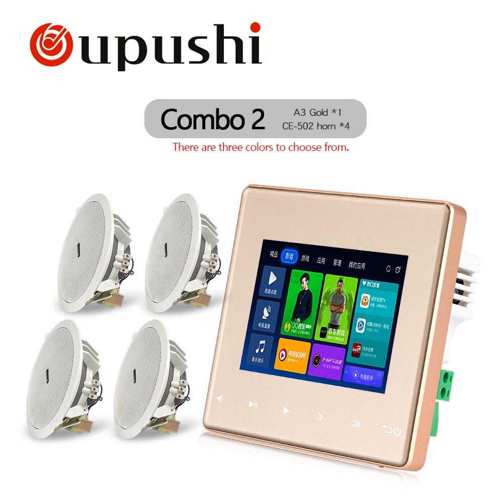 Популярные умный дом аудио фоновая музыка система <font><b>Bluetooth</b></font> цифровой усилитель стены усилитель с сенсорным ключ карты SD USB