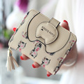 New Arrival pu Leather Women Wallets Cute Tassel Women Short Wallets Ladies Wallets and Purses Small Wallet Ladies Carteiras