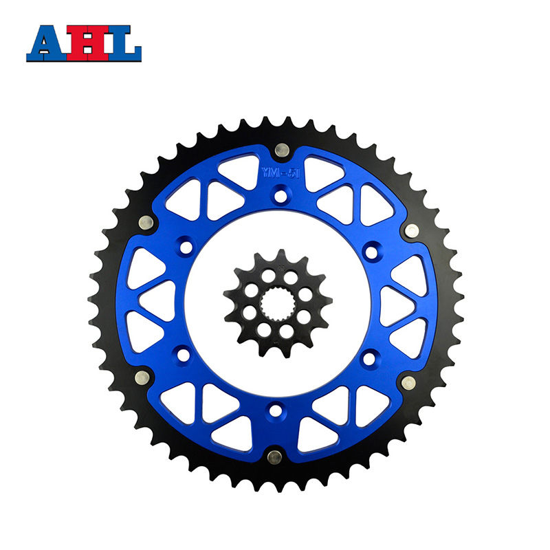 Motorcycle Parts 51-13 T Front & Rear Sprockets Kit For YAMAHA YZ250F YZ 250F YZ250 YZ 250 F 2001-05 2008-14 Gear Fit 520 Chain