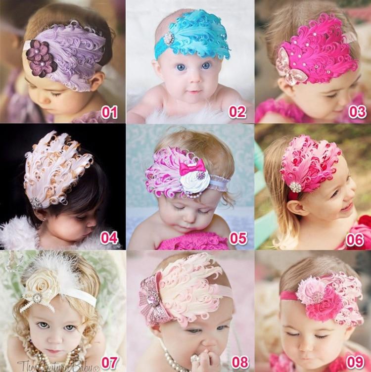 1 Stück Maya Stepan Floral Baby Mädchen Haar Kopf Band Infant Neugeborene Kleinkinder Spitze Stirnbänder Feder Headwrap Haarband Headwear Online Shop