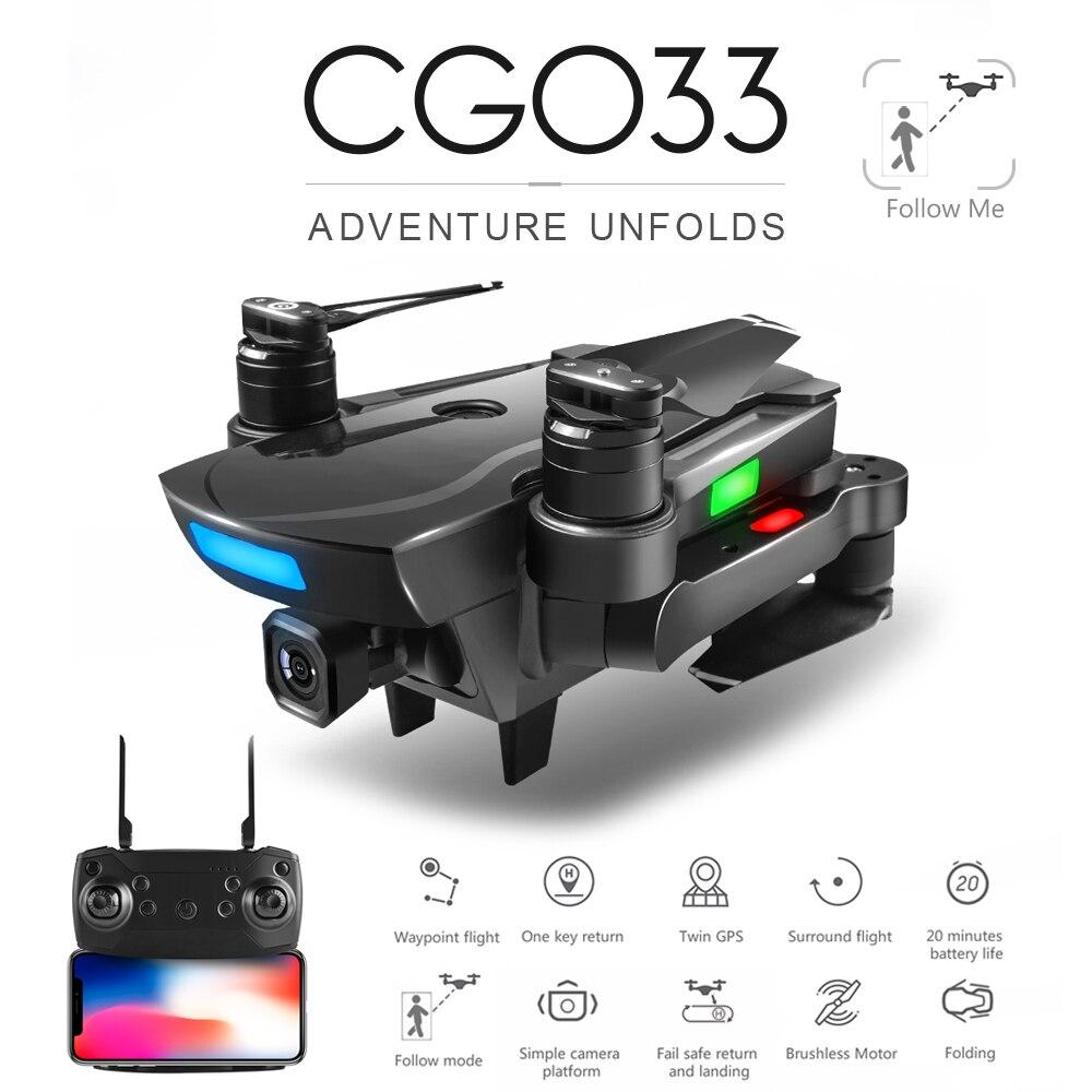 ZWN CG033 Brushless FPV Quadcopter Avec 1080 p HD Wifi Cardan Caméra Ou Pas de Caméra RC Hélicoptère Pliable Drone GPS dron Enfants Cadeau