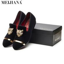 Новая мода мужчины партия и свадьба ручной работы мокасины мужчины бархат обувь с PP тигра и золотой пряжкой мужской модельной обуви мужчины