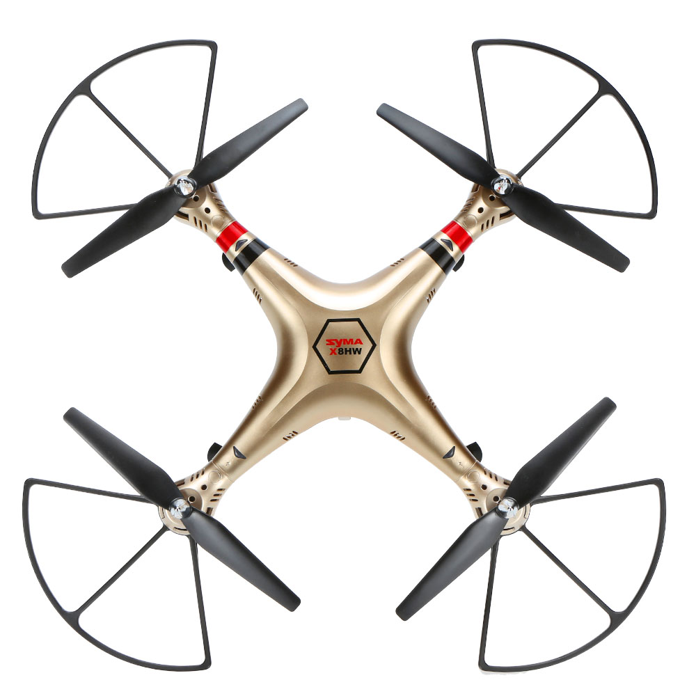 New Arrival SYMA X8HW FPV RC Drone with WiFi HD Camera Real-time Sharing 2.4G 4CH 6-Axis Quadcopter with Hovering Function-GoldNew Arrival SYMA X8HW FPV RC Drone with WiFi HD Camera Real-time Sharing 2.4G 4CH 6-Axis Quadcopter with Hovering Function-Gold