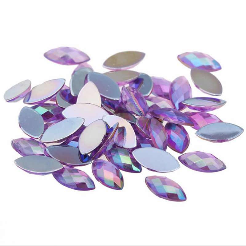 ... Coating Crystal AB Rhinestones Flatback Acrylic Crystals Non Hotfix  Horse Eye Strass Non Sewing Stones 7 ... 8f265271b163