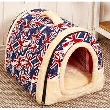 Heiße multifunktions Hund Haus Nest Mit Mat Faltbaren Haustier-hundebett Bed Haus Für S M L Hunde Reisen Haustier Bett Tasche Freies verschiffen