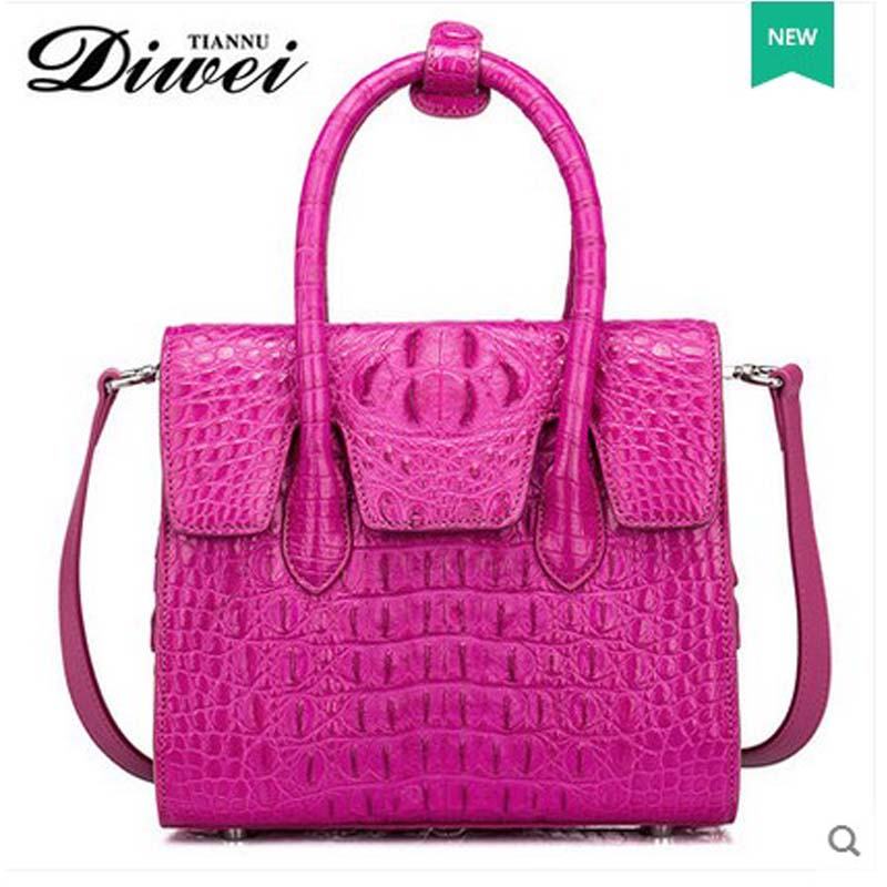diwei 2018 new lady handbag high-capacity leisure women handbag real thai crocodile leather single shoulder bag quality goods gete new python leather women handbag lady real snake dinner women purse large capacity grab bag girl women cluth bag wallet