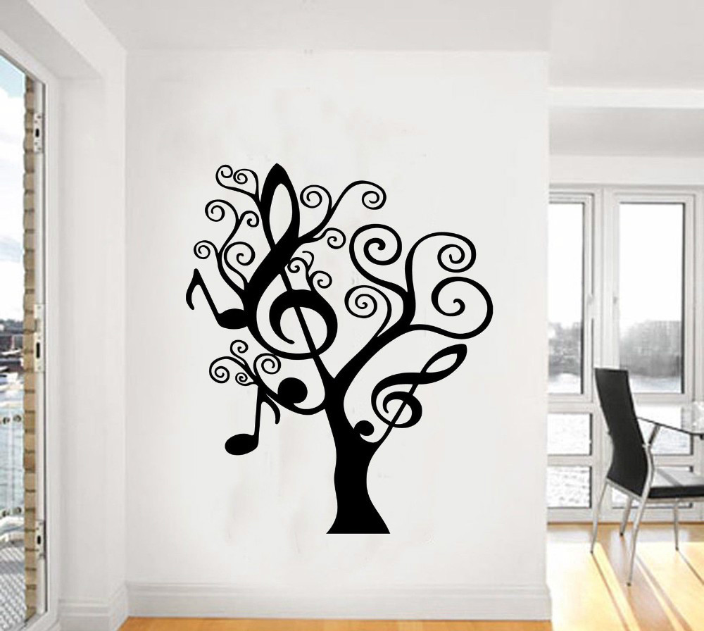 Music Tree Creative Plants Giant Wall Sticker Vinyl Art Decal