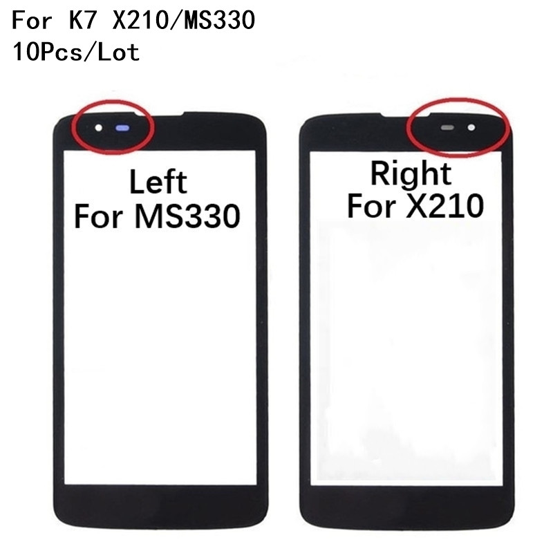 10Pcs/Lot Front Screen Outer <font><b>Glass</b></font> Touch Outer Cover Panel LENS For <font><b>LG</b></font> <font><b>K7</b></font> X210 <font><b>X210DS</b></font> MS330 Tribute 5 LS675 Touch screen image