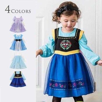 89dc54320 Chico de fiesta Halloween traje ropa porque Alice bebé cenicienta de las  niñas niños vestidos de la Reina de la nieve Elsa Anna Princesa Sofía  vestidos
