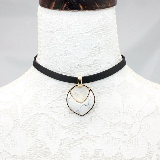 Купить chicvie 2018 женские ювелирные изделия черный короткий кожаный