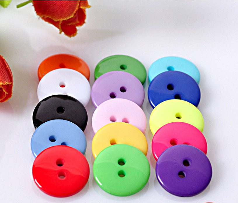 100Pcs Round 2 Hole Resin <font><b>Button</b></font> Sewing Fit Scrapbooking Apparel Crafts Diy Decoration 9MM/<font><b>10MM</b></font>/12.5MM Mixed Color Z522 image
